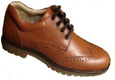 Petasil Marcel Boys Tan Leather Brogue Shoes
