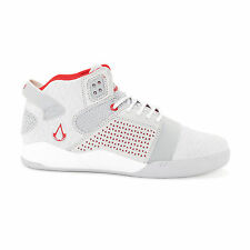 """Supra  x Assassin's Creed """"Skytop III"""" Shoes Men's Grey Mid-Top Leather Sneakers"""
