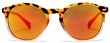 Florence Round Wayfarer Sunglasses Orange Pink