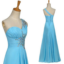 Long Bridesmaids Dresses Prom Gown Evening Party Graduation Formal Beaded Ball