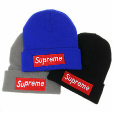 Unisex Women Men Winter Cuffed Beanie Hat Supreme Hip Hop Knit Ski Skull Cap NEW