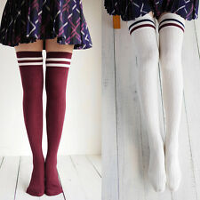 Newest Cotton Over Knee High Stockings Cylinder College Wind Thigh High Socks