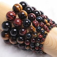 Gift Stretchy Natural Bracelet Bangle Round Beads Tiger's Eye Stone Jewelry