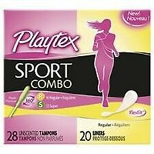 Playtex Sport Combo Pack Tampons & Liners, Regular/Super, 48 ea Pack of 2