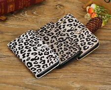iPhone 5c Leopard Skin PU Leather Wallet Case With Credit Card Slots