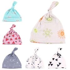 Floral Newborn Baby Hat Organic Cotton Beanie Knotted Cap