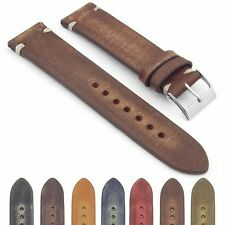 StrapsCo Vintage Faded Distressed Hand Stitched Watch Band Strap