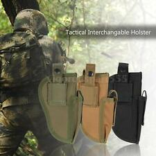 Outdoor Hunting Tactical Carry Tactical Pistol Hand Gun Holster Nylon Pouch H6J3