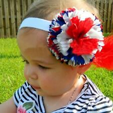 Wholesale Baby Gilrs Cute Flowers Headband with Feather Accessories One Size