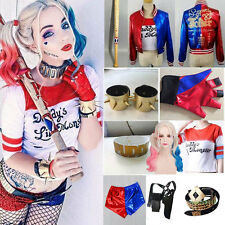Suicide Squad Harley Quinn Wigs Coat Daddy's Jacket Shorts Accessory Costume Lot