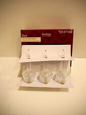 Set of 3 Christmas Bubble Light REPLACEMENT bulbs string Select Clear or Colors