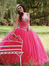2017 Beaded Quinceanera Dress Ball Gown Formal Prom Party Wedding Dresses Custom
