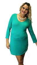 Green Maternity Long sleeve Solid Maternity Top Womens Sexy Mini Dress