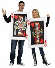 Couples Costume King & Queen of Hearts Fancy Dress Costumes