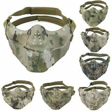 (6 Style Select) Military Tactical Half Face Protective Mask airsoft paintball