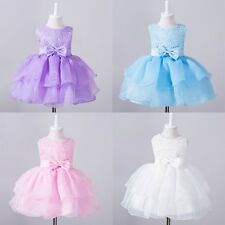 Flower Girl Dress Prom Wedding Birthday Pageant custom Party tulle Age 0-24M