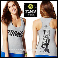 "ZUMBA INSTRUCTOR RacerBack Top Tank Classic ""Rock w Me"" RARE! #Z1T00643 - S L XL"