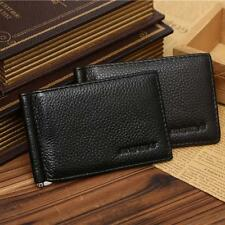 Card Credit Holder Photo Genuine Leather Purse Wallet Money Clip
