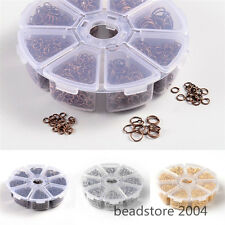 1Box 4 Color Mix 4~10mm Iron Jump Rings Nickel Free 2800pcs/box Jewelry Findings