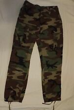 US Army Air Force Issue Woodland Camo BDU RipStop Combat Pants Trousers H/W