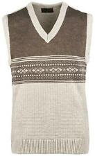 Mens Knitted Tank Top V Neck Sweater Classic Sleeveless Jumper