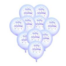 10pcs Baby Shower Stars Hearts Latex Balloons Party Decoration