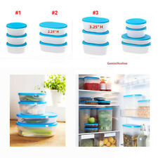 IKEA Food Containers JAMKA Clear Blue Lid Leftover Storage Kitchen Organization