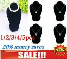 1/2/3/4/5pcs Jewellery Necklace Chain Display Velvet Black Holder Stand Lot LY