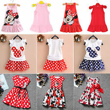 1-7 T Summer Baby Girls Clothes Nice Short Party Dress Skirt Sleeveless Vest Top