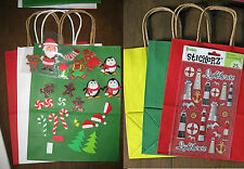 Make your own gift bags  Great kids craft  loads of sticker fun  bags & stickers