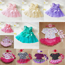 One-piece Baby Girls Summer Short Swing Party Dress Wedding Bridesmaid Rompers