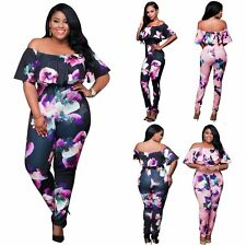 Women Clubwear Playsuit Bodycon Party Evening Jumpsuit&Romper Trousers Plus Size