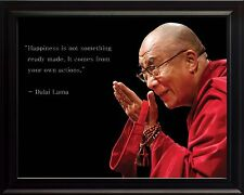 Dalai Lama Picture, Poster or Framed Quote Happiness is Not Something Ready Made