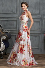 Sexy One Shoulder Flower Ball Gown Evening Prom Party Cocktail Wedding Dress