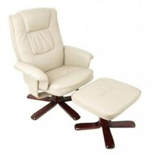 PU Leather Lounge Office Recliner Chair Ottoman
