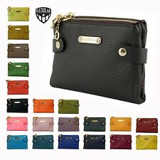 Ladies Real Leather Purse New Genuine Womens Bifold Wallet Zip Coins Card Holder