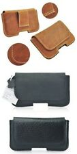 Real Leather Waist Pack Samsung Galaxy Note 4 Cell Phone Case Side Pockets