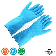 Blue Rubber Washing UP Latex Gloves for Cleaning Household Kitchen | Sml Med Lge