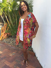 Embellished Silk JACKET+Open front+size 18-22 L/XL  Beach Cover, Cape, Kaftans