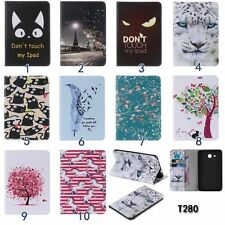 Cute Patterns Case for Samsung Galaxy Tablet PU Leather Card Holder Wallet Cover