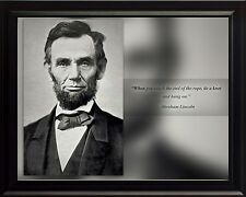 """Abraham Lincoln Photo Picture, Poster or Framed Famous Quote """"When you reach"""""""