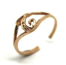 KAEDESIGNS, GENUINE, SOLID YELLOW OR ROSE OR WHITE GOLD 375 INITIAL TOE RING  T