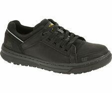 Caterpillar CONCAVE LO STEEL TOE Womens Black Leather Safety Work Boots Shoes