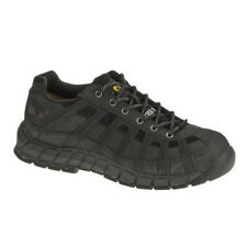 Caterpillar SWITCH STEEL TOE Mens Black Nubuck Lace Up Safety Work Boots Shoes