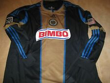 AUTHENTIC MLS Philadelphia UNION Long Sleeve HOME JERSEY- Size 2XL/XXL