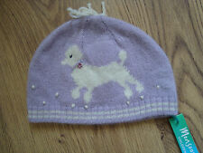 Monsoon Baby Girls Toddler purple poodle hat  - age 6-12 months