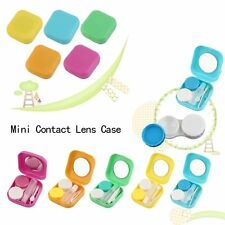 Plastic Mini Contact Lens Case Outdoor Travel Contact Lens Holder Container LO