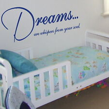 DREAMS ARE WHISPERS... wall quote transfer graphic vinyl large sticker niq41