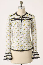 Anthropologie Daffodil Dance Blouse Sz 0, Cotton Floral Print Shirt Top Anna Sui