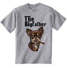 Chihuahua the Dogfather - NEW COTTON GREY TSHIRT